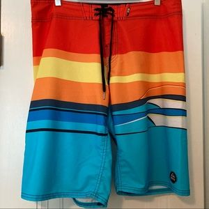 Reef Board Swim Shorts Vivid colors Men's Sz 34